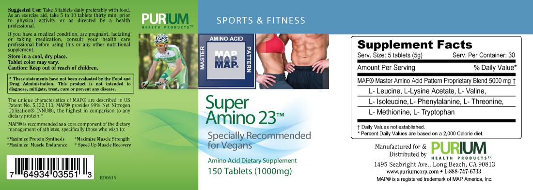 super amino 23 label