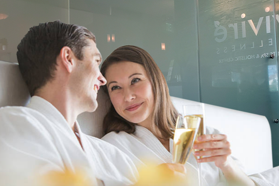 valentine day couple spa
