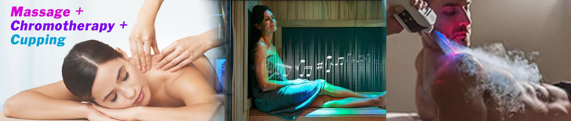 infrared sauna cupping massage